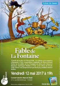 Affiche les fables de La FontaineCapture