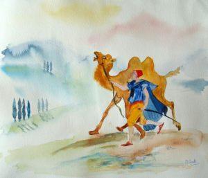 Le chameau et les batons