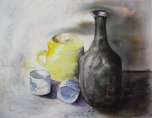 Nature morte aquarelle 40*50