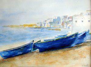 Barques bleues au Maroc